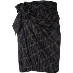"Isabel Marant Étoile ""Jayda"" Skirt (7.675 RUB) ❤ liked on Polyvore featuring skirts, black, wrap skirts, high waist knee length pencil skirt, cotton knee length skirt, high waisted pencil skirt and cotton wrap skirt"