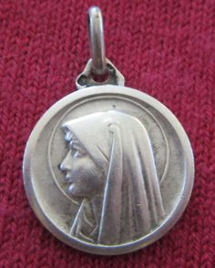 Vintage Catholic Religious Holy Medal - STERLING - Our Lady of Lourdes - LOVELY - http://collectibles.goshoppins.com/religion-spirituality/vintage-catholic-religious-holy-medal-sterling-our-lady-of-lourdes-lovely/