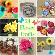 Wonderful Flower Craft Ideas - these are such a great mix of fabulous Flower Crafts you won't know which to make first. Great for spring or Mothers Day