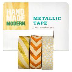 Hand Made Modern - Metallic (Grey) Kraft Tape - 3pk