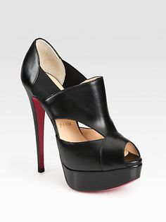 Christian Louboutin Pitou Leather Platform Pumps