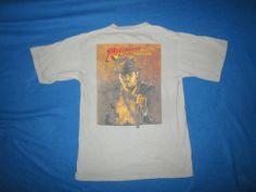 Vintage Indiana Jones Shirt 1980s Original 80s Movie Promo Action Hero | eBay