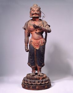 Important Cultural Property of Japan, Kongo Rikishi (Guardian) statue, 8th century, 重要文化財 力士形立像