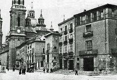 Calle del Pilar años 30   Antigua calle del Pilar en los año…   Flickr Portugal, Louvre, Street View, Rest, Travel, Zaragoza, Antique Photos, Street, Cities