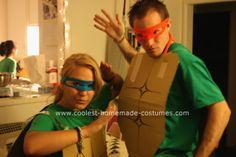 Need a Last Minute Costume: Teenage Mutant Ninja Turtle Diy Ninja Turtle Costume, Turtle Costumes, Costume Ninja, Eve Costume, Pirate Costumes, Costume Ideas, Girl Group Costumes, Costumes For Teens, Woman Costumes