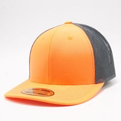 a6f52da3e795b5 PB222 Pit Bull Neon Cambridge Trucker Hat [N.Orange/Charcoal] Pit Bull
