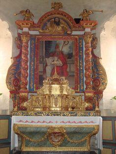 Retable.Eglise romane de l'Hôpital  Saint-Blaise. Midi-Pyrénées