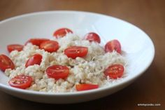 Savory Oatmeal with Parmesan and Tomatoes