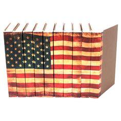 Vintage 10 Piece Flag Book Set