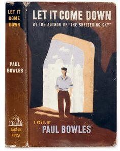Έργο του Edward McKnight Kauffer για το Let It Come Down του Paul Bowles (εκδόσεις Random House, Νέα Υόρκη, 1952). Για την εικονογράφηση ο καλλιτέχνης χρησιμοποίησε την προηγούμενη εμπειρία του στο στένσιλ. Ο ήρωας του Bowles, ο Nelson Dyar, απεικονίζεται μεταφορικά στον σκοτεινό υπόκοσμο της Ταγγέρης. © Simon Rendall