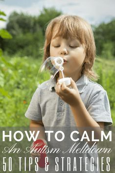 Need calming strategies for children with autism or sensory processing disorder? I'm sharing 50 ideas for kids with autism, ADHD, and other special needs deal with anger management issues and help calm sensory meltdowns. These tips & tools help kids with self-regulation and work for both parents and teachers! These calming tools work at home, in the classroom, or in the car! My son has autism and these ideas help him through tantrums and meltdowns! #ASD #autism #SPD #SpecialNeedsParenting