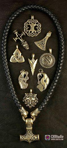 Tribal Spirit Colgante Cadena Triqueta Celten Grmanen Vikingo Hombres Joya