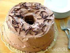 Fat Free Chocolate Cream Angel Food Cake! recipes fitness
