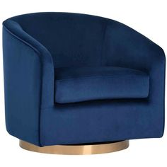 Swivel Barrel Chair, Swivel Armchair, Round Swivel Chair, Green Sky, Accent Chairs For Living Room, Living Rooms, Gold Fabric, High Fashion Home, Black And Navy
