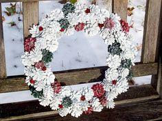 Christmas Wreath, Very Sparkly. Pine Cone Wreath.  Winter Wonderland Collection. www.etsy.com/shop/NaturesCraftSupply