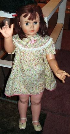 1960s Walker Doll...   i got a walking doll when i was about 8 or 9ish i named her elizabeth ,,,my younger sister named her (not walking :) ) doll Ann and our baby sister named hers Rainy....yes they had blond hair and blue eyes,,,,not that we did,,,that's the way they came <3