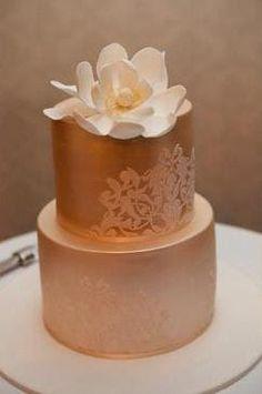 Copper coloured cake