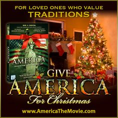 Christmas Tradition #10: The Christmas Tree. Facebook Christmas campaign for the Dinesh D'Souza film, AMERICA: Imagine the World Without Her.
