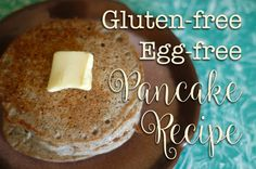 GF, egg free, and can even be dairy free too! Dairy Free Eggs, Dairy Free Recipes, Healthy Recipes, Healthy Food, Brunch Recipes, Breakfast Recipes, Egg Free Pancakes, Best Breakfast, Food Allergies