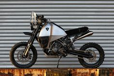 Move aside, scrambler: here's a completely new style of custom, a rugged KTM 950 given 2-wheel drive and converted into a truly go-anywhere machine.