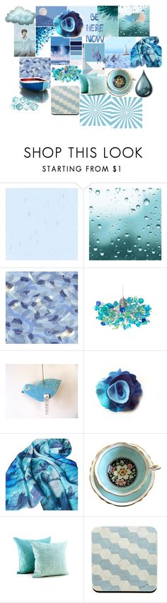 """Blue MIX............................"" by talma-vardi ❤ liked on Polyvore featuring interior, interiors, interior design, home, home decor, interior decorating, NOVICA and Barque"
