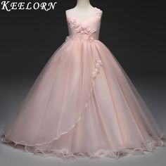 Cheap clothes for, Buy Quality brand girls clothing directly from China girls brand clothing Suppliers: Keelorn Retail new style summer baby girl lace flower girl dress for wedding girls party dress with bow dress for 6-16 Year