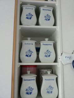 Kitchen canisters, Arabia Finland.