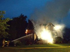 No Injuries, Home Destroyed in Montesano Fire - Montesano, WA - Grays Harbor firefighters were dispatched to a residential structure fire just after 2 this morning in rural Montesano.James Kuchciak with Fire District 2 tells us the fire originated in the upstairs bedroom of the home in the 20 block of Garden Tracks road. Firefighters immediately took a defensive...