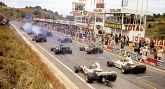 Lighting them up. Pole sitter Amon leads Hulme away. 1972 French Grand Prix at Clemont Ferrand Slot Cars, Race Cars, Grand Prix, Vintage Racing, Vintage Cars, Formula 1 Car, Charades, Car And Driver, Great Pictures