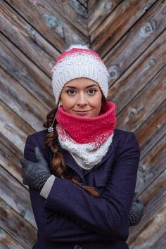 knitting, cowl, hat
