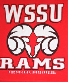 WSSU (Winston Salem State University) Rams  t-shirt on canvas  $20