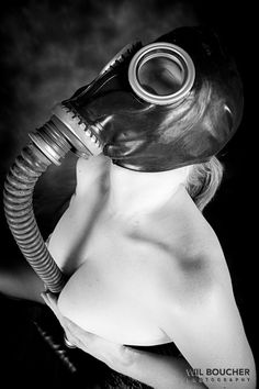 Tumblr Girls with Gas Mask |