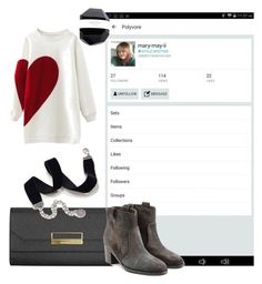 """""""shout out  to my friend go follow her"""" by inspiredbyart345 ❤ liked on Polyvore featuring Montblanc, Sweet Romance, WithChic and Laurence Dacade"""