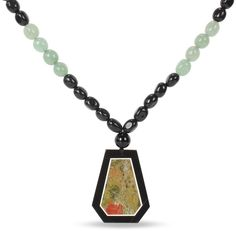 Calcite and Unakite Bead Necklace
