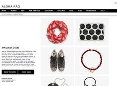 ALOHA RAG Fashion Website Design