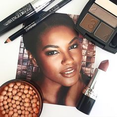 #AvonMakeup look we love: SuperExtend Winged Out Mascara, Kohl Eyeliner, True Color Eyeshadow Quad in Chocolate Sensation, Ultra Color Lipstick in Rich Chocolate & Avon Glow Bronzing Pearls