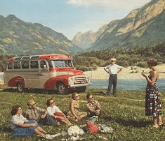 Picnic summer vintage nature retro picnic bus old photos Tumblr, Old Photos, Vintage Photos, Vintage Ads, Bbq Dresses, Picnic Pictures, Camping Photo, Vintage Picnic, Vintage Travel