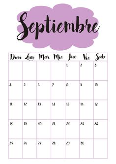 Calendario 9 Septiembre ☼