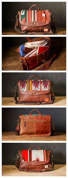 Oaxaca messenger bag by WILL Leather Goods = STUNNING. We carry these at our…