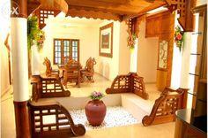 nalukettu interior - Google Search Indian Home Interior, Indian Home Decor, Home Interior Design, Indian Interiors, Room Interior, Interior Designing, Luxury Interior, Interior Ideas, Kerala Traditional House