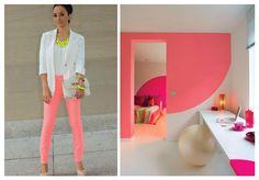 Fluo: fashion x decor #fluo #neon