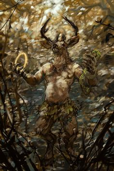 The Greenman  Cernunnos/Herne the Hunter...Cernunnos Art...by Artist wahay...