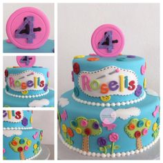 Trees Colors Cake