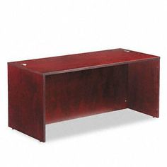 Verona Veneer Straight Front Desk Shell, 66w x 29-1/2d x 29-1/2h, Mahogany by Alera Products. $399.67. Alera - Verona Veneer Straight Front Desk Shell, 66w x 29-1/2d x 29-1/2h, Mahogany - Sold As 1 EachCombining veneer elegance with modular format versatility. Premium-grade veneers and solid woods are fine finished, with durability suited to everyday commercial applications. Solid wood edge with a distinctive reeded profile. Two grommet holes for convenient cabl...