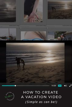 Creating a vacation video is an easy way to relive that memorable trip time and again. Share it with friends and family too! Photography Software, Photography Tutorials, Digital Photography, Family Photography, Lightroom Tutorial, Olympus Digital Camera, Wanderlust Travel, Mom Blogs, Design Tutorials