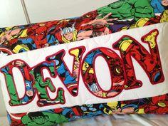 Children's personalized superhero pillow cover, marvel, the avengers, Spider-Man, the hulk