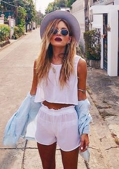 #summer #fashion / boho chic white