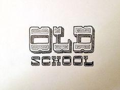 Old School Handwritten typography 5.28.14 photo