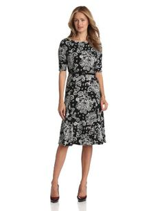 Jones New York Women's Elbow Sleeve Bateau Scatter Print, Black/Ivory, 4 Jones New York,http://www.amazon.com/dp/B00CFXUBOA/ref=cm_sw_r_pi_dp_hFb8rb0MG6359RN4