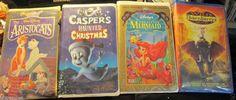 Lot 4 VHS Kids Movies, Wild Thornberrys Movie, The Little Mermaid, Aristocats++